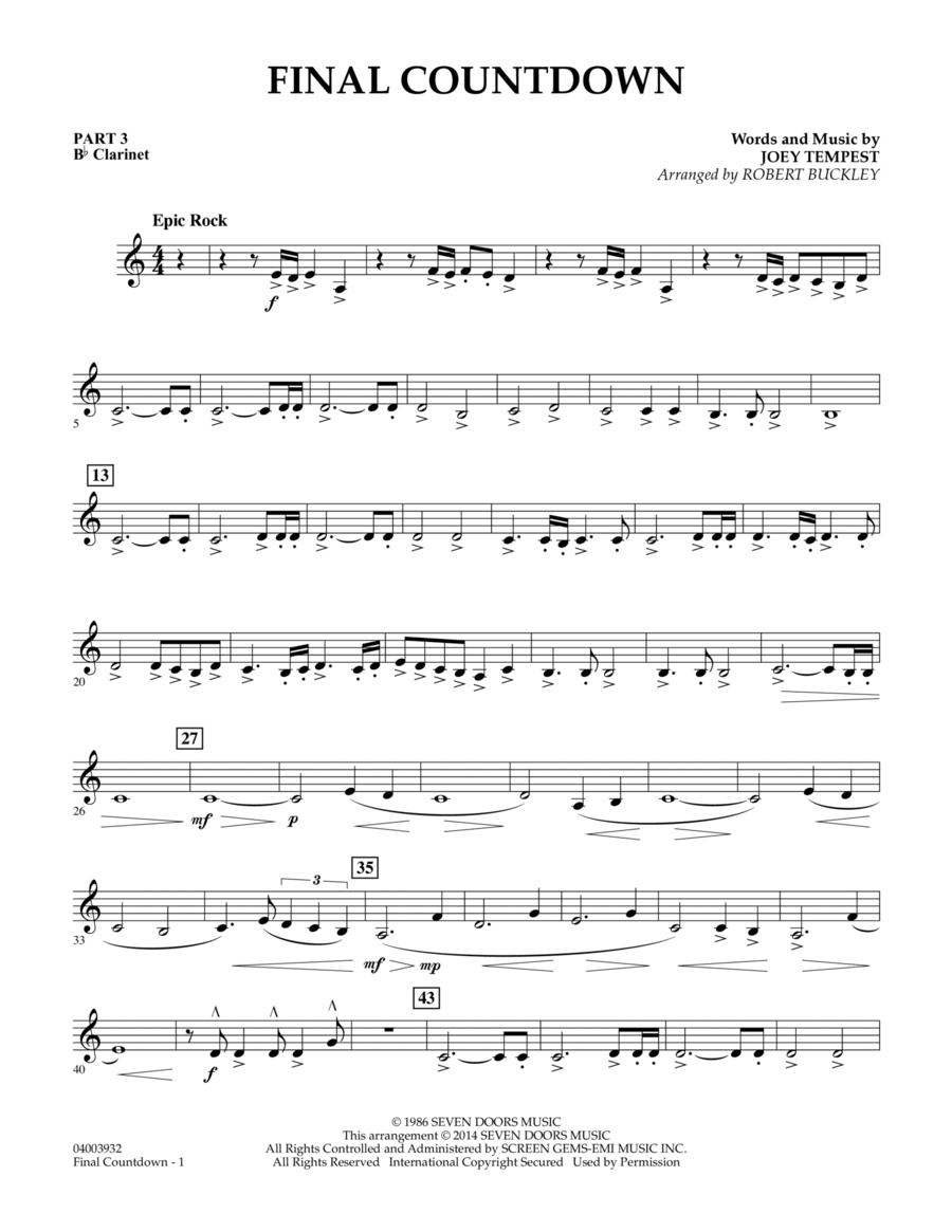 Final Countdown - Pt.3 - Bb Clarinet