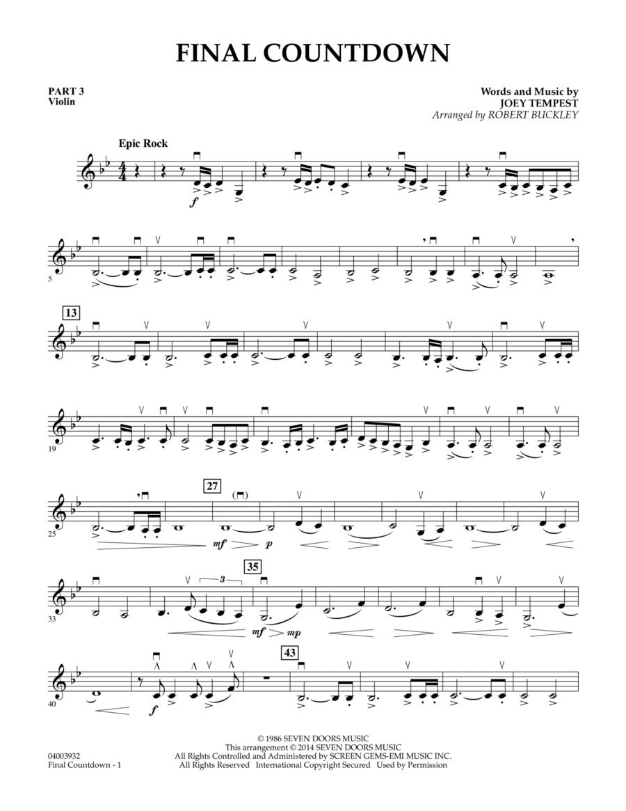 Final Countdown - Pt.3 - Violin