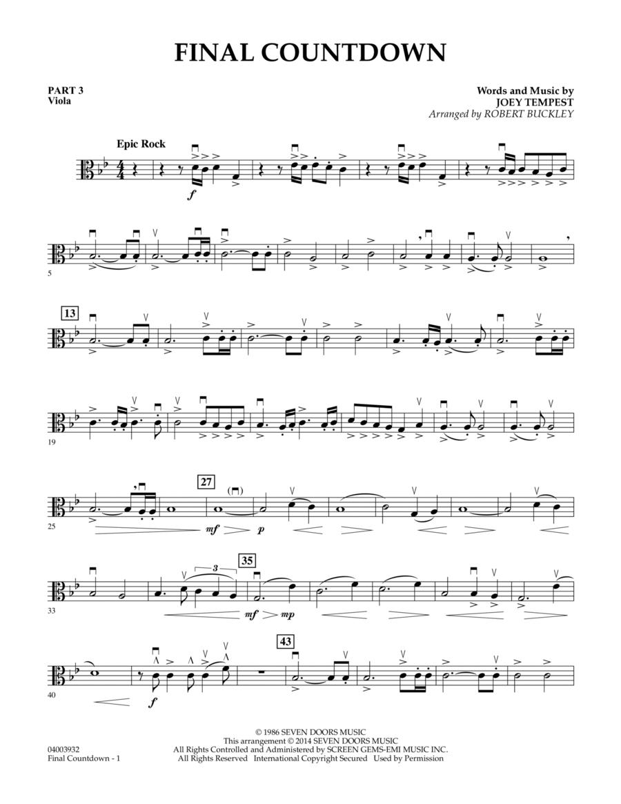 Final Countdown - Pt.3 - Viola