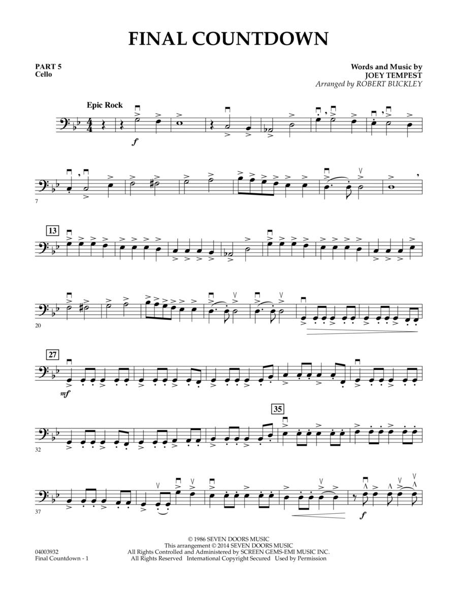 Final Countdown - Pt.5 - Cello