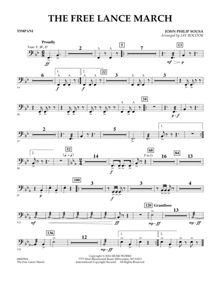 The Free Lance March - Timpani