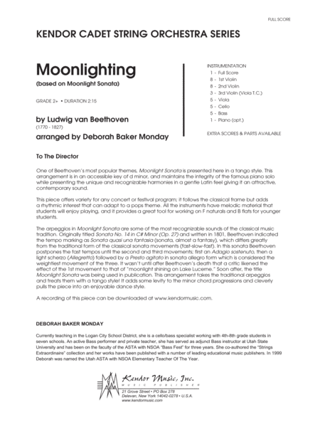 Moonlighting (based on Moonlight Sonata) - Conductor Score (Full Score)