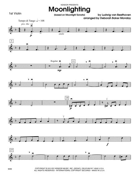 Moonlighting (based on Moonlight Sonata) - Violin 1