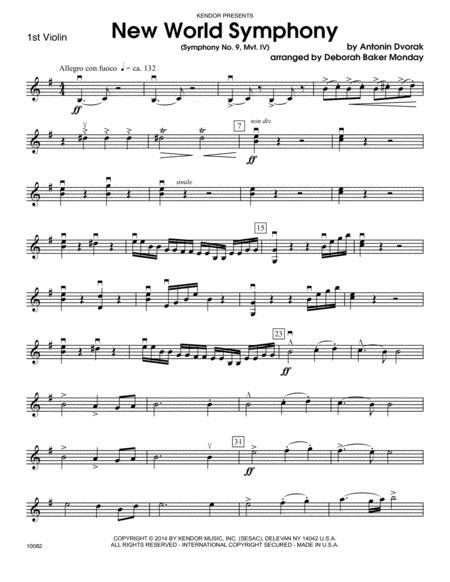 New World Symphony - Violin & Viola Duet sheet music for ...