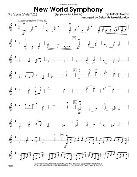 New World Symphony (Symphony No. 9, Mvt. IV) - Violin 3