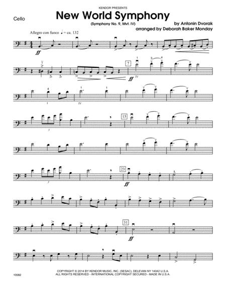 New World Symphony (Symphony No. 9, Mvt. IV) - Cello