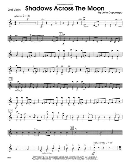 Shadows Across The Moon - Violin 2
