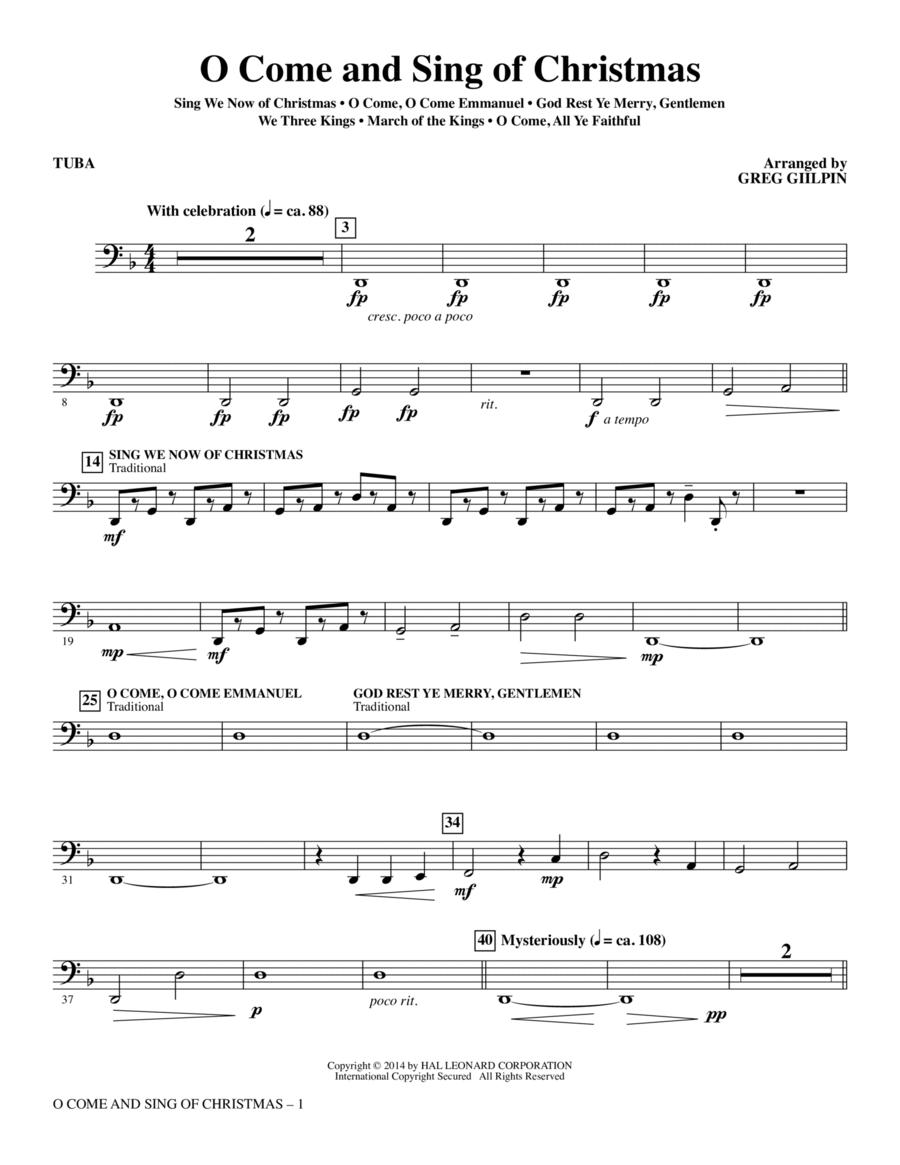 O Come and Sing of Christmas - Tuba