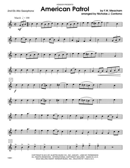 American Patrol - 2nd Eb Alto Saxophone