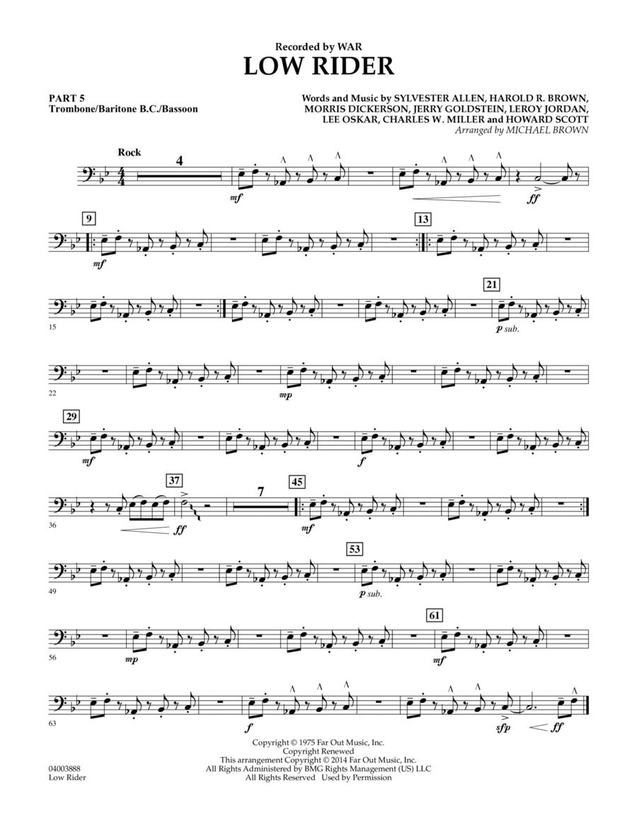 Low Rider - Pt.5 - Trombone/Bar. B.C./Bsn.
