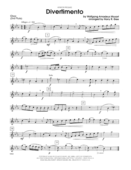Divertimento - Oboe