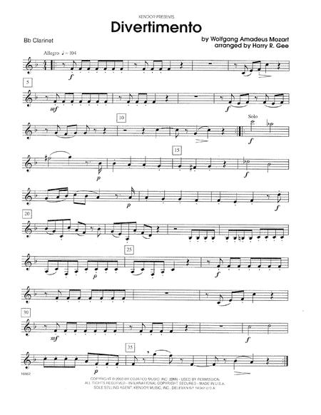 Divertimento - Bb Clarinet