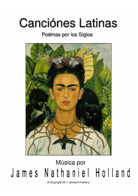 Canciones Latinas Latin Songs  Art Song Cycle for Soprano in Spanish