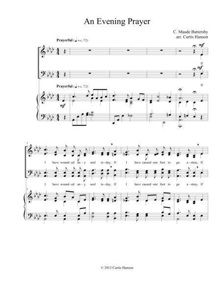 An Evening Prayer (SATB)