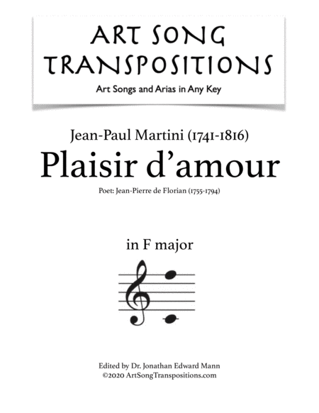 Plaisir d'amour (F major)