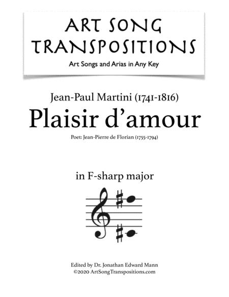 Plaisir d'amour (G-flat major)