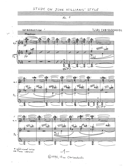 Study on John Williams' Style No. 1