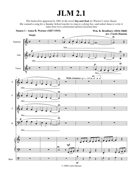 Jesus Loves Me (SATB)