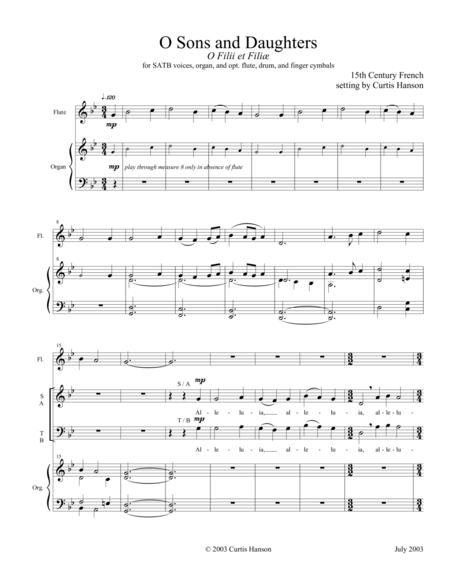 O Sons and Daughters (SATB)