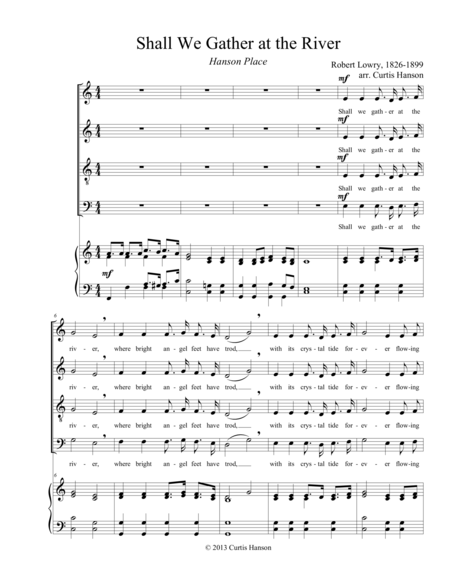 Shall We Gather at the River (SATB)