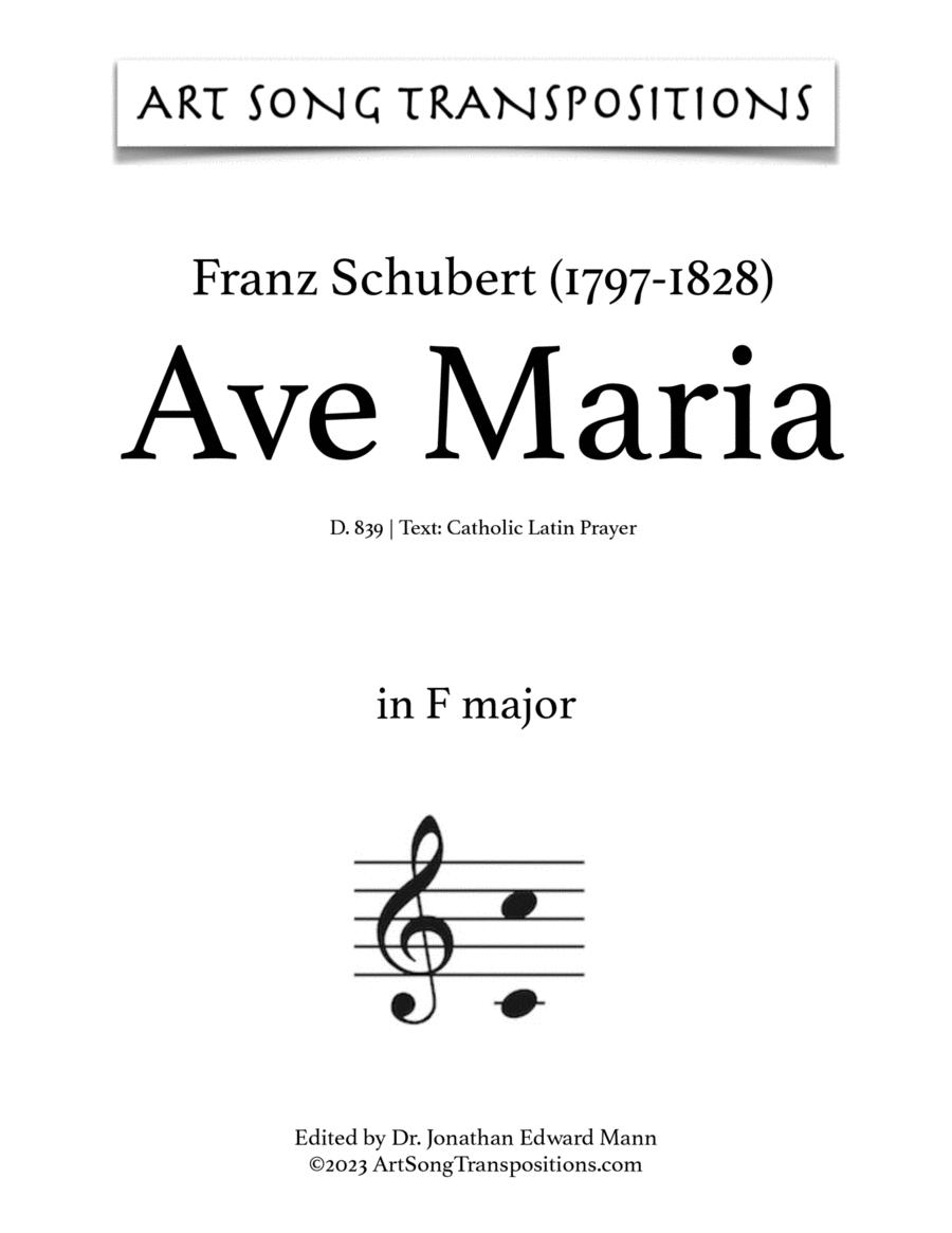 Ave Maria, D. 839 (F major, Latin)