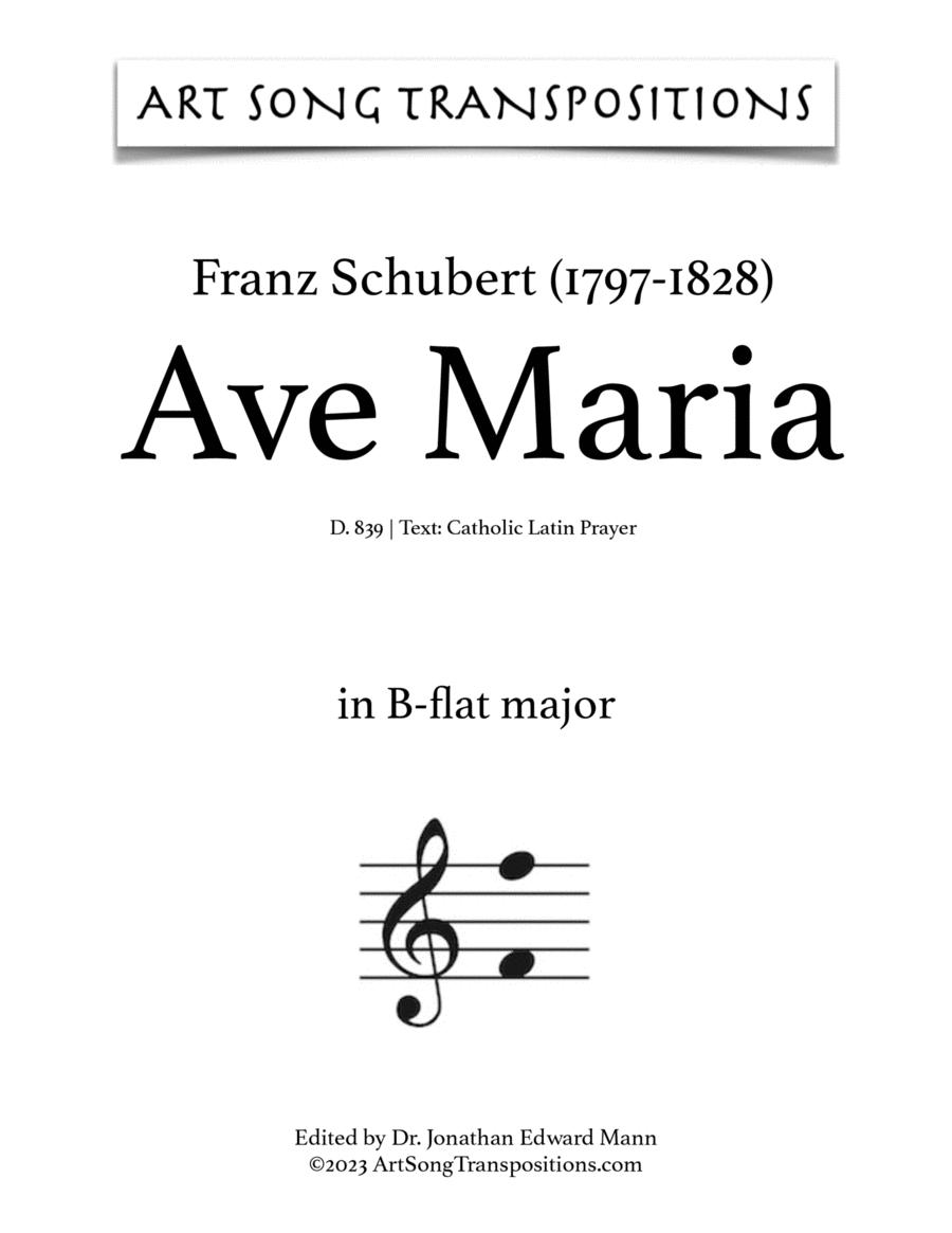 Ave Maria, D. 839 (B-flat major, Latin)