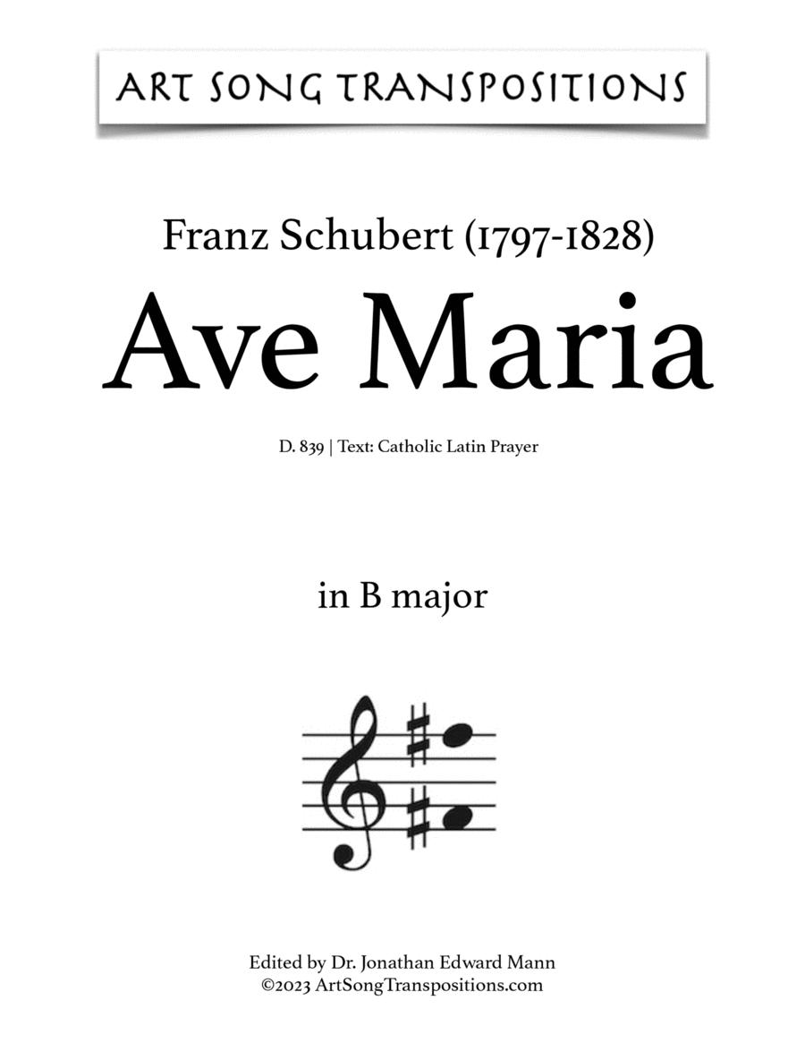 Ave Maria, D. 839 (B major)