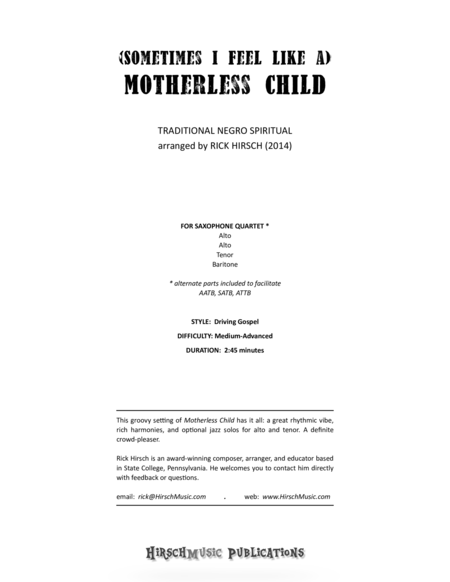 (Sometimes I Feel Like a) Motherless Child