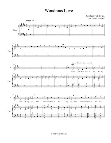Wondrous Love (SATB - version 1)