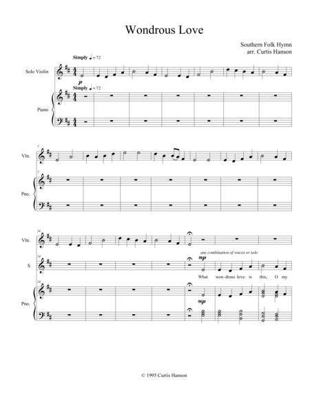 Wondrous Love (SATB - version 2)