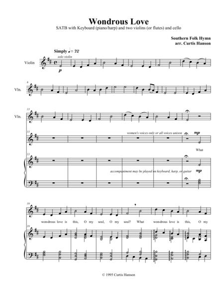 Wondrous Love (SATB - version 4)