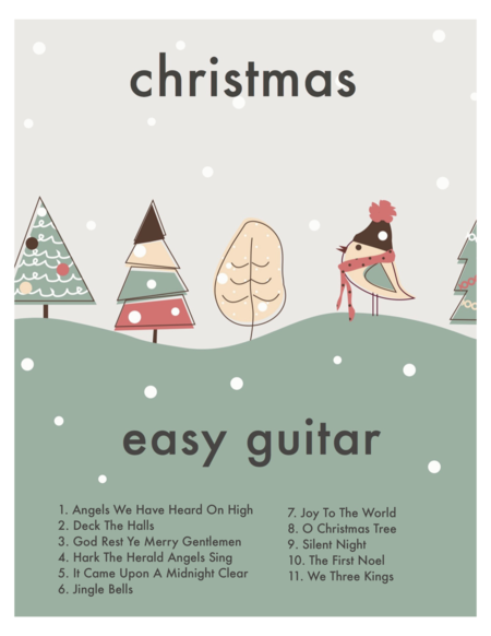 The Definitive Easy Guitar Christmas BOOK (Beginner with/TAB and chords)