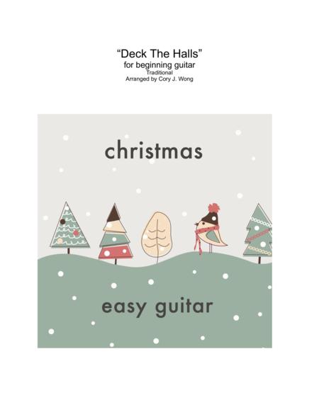 Deck The Halls (Easy Guitar w/ tab)