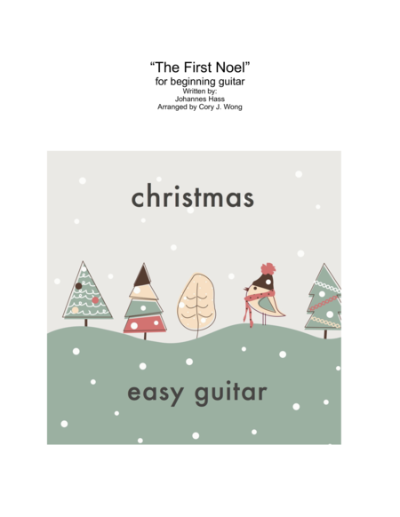 The First Noel (Easy Guitar w/ Tab)