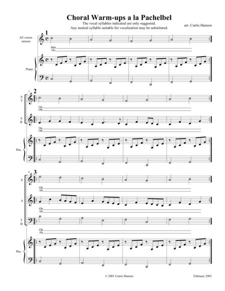Choral Warm-ups a la Pachelbel (SATB)