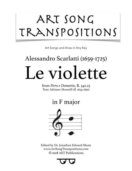 Le Violette (F major)