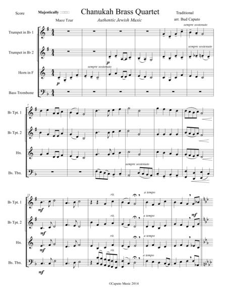 Chanukah Medley for Brass Quartet-Score and Parts