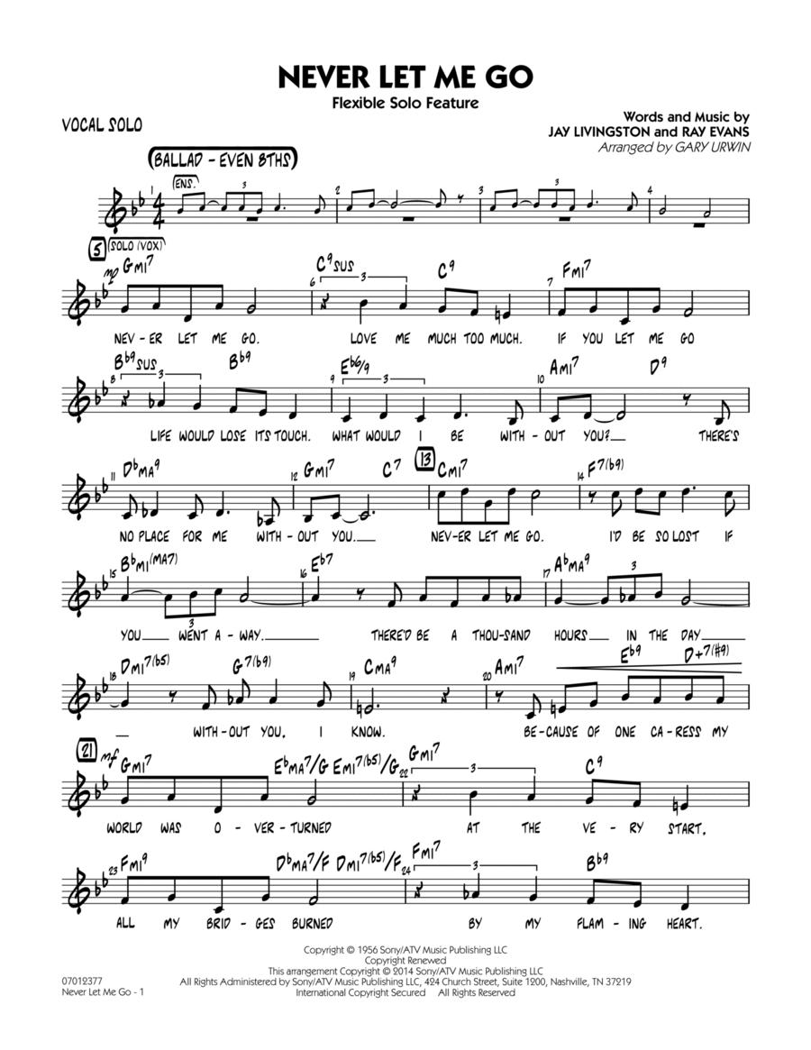 Never Let Me Go (Flexible Solo Feature) - Vocal Solo