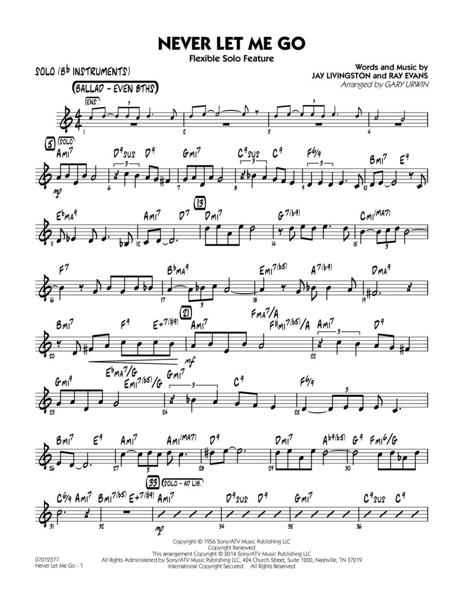 Never Let Me Go (Flexible Solo Feature) - Solo (Bb Instruments)