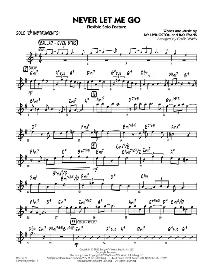 Never Let Me Go (Flexible Solo Feature) - Solo (Eb Instruments)