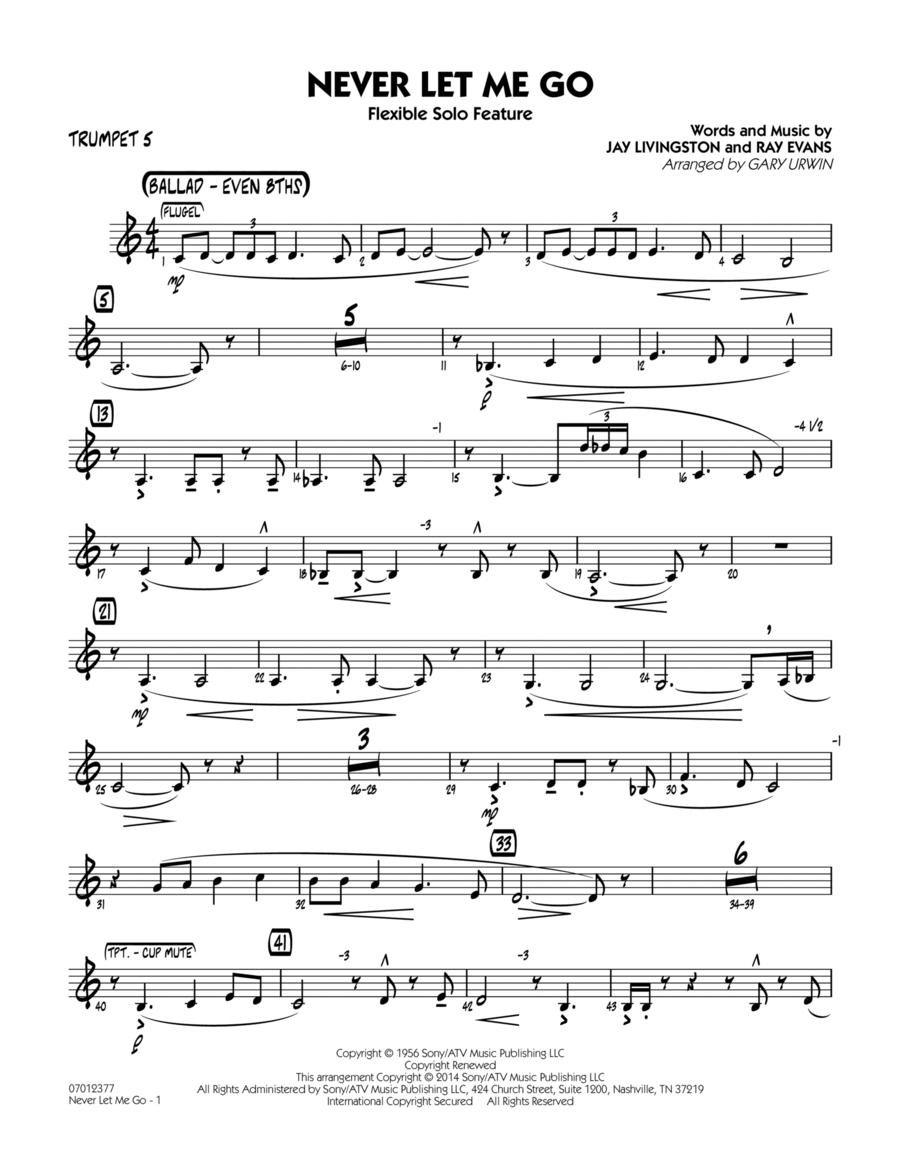 Never Let Me Go (Flexible Solo Feature) - Trumpet 5