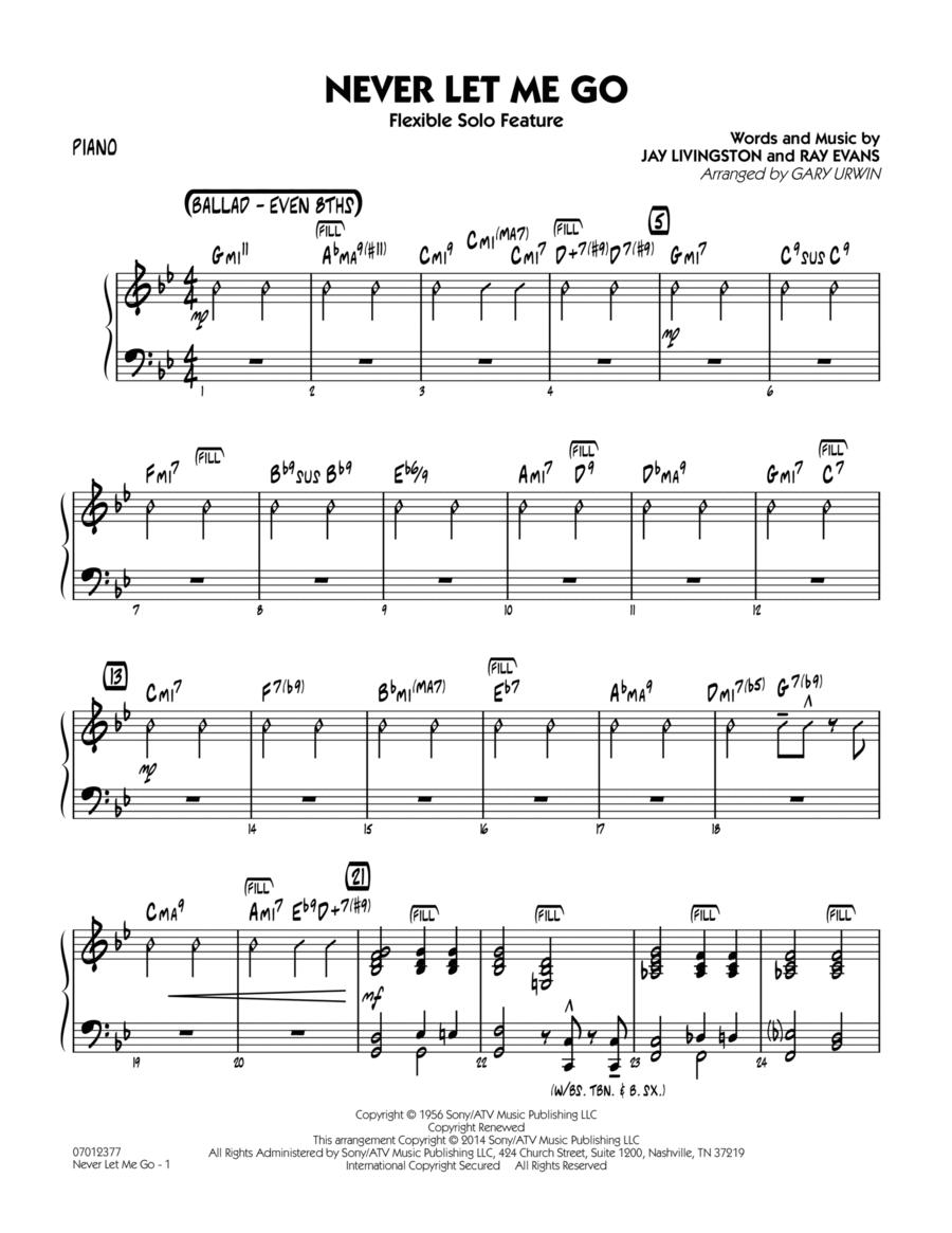 Never Let Me Go (Flexible Solo Feature) - Piano