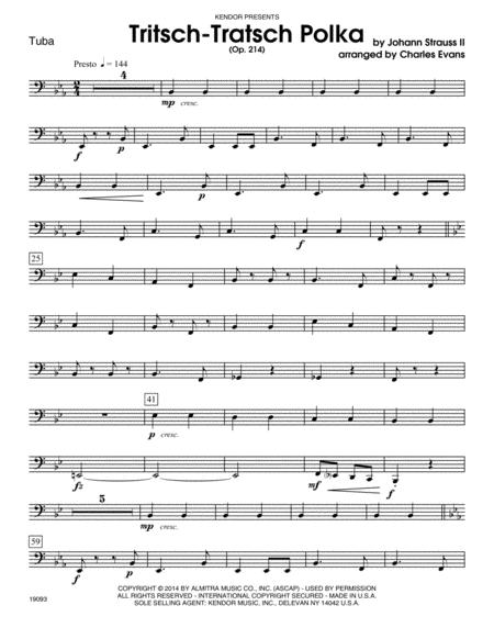 Tritsch-Tratsch Polka (Op. 214) - Tuba