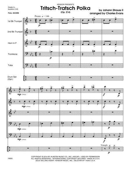 Tritsch-Tratsch Polka (Op. 214) - Conductor Score (Full Score)