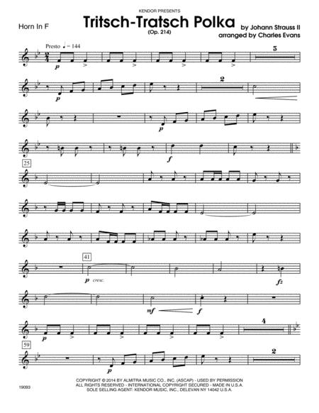 Tritsch-Tratsch Polka (Op. 214) - Horn in F