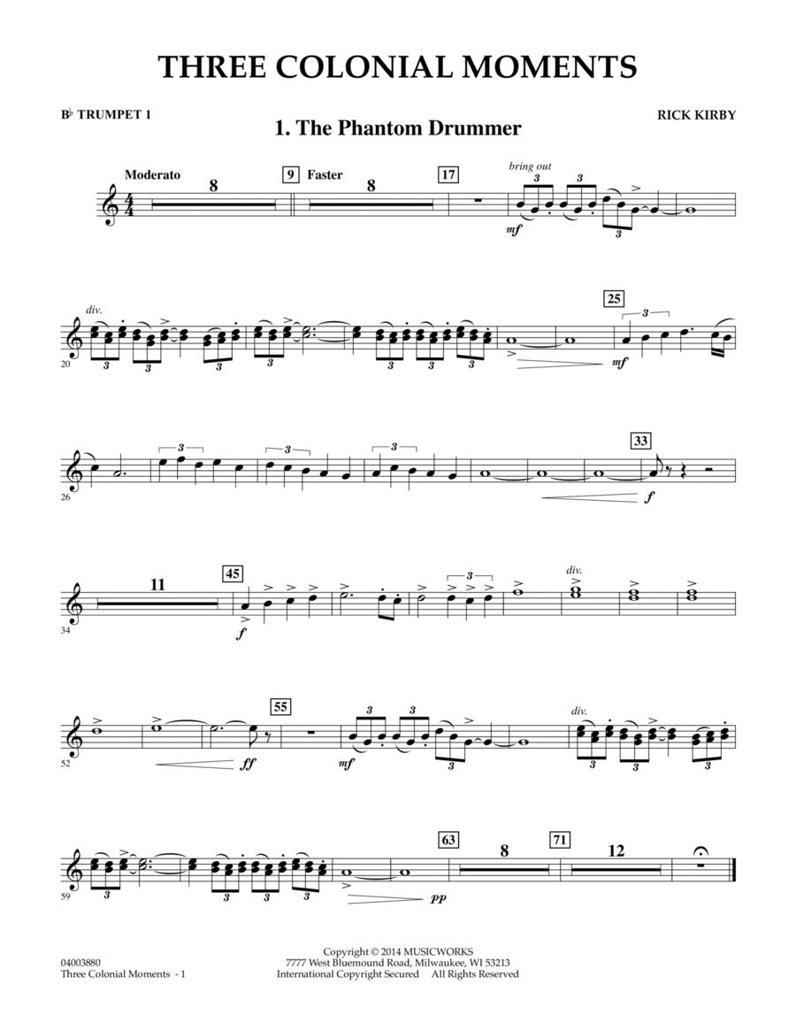Three Colonial Moments - Bb Trumpet 1
