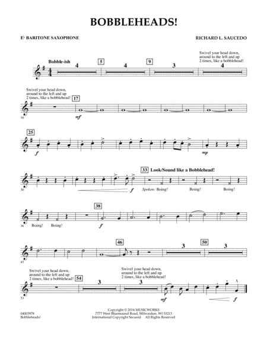 Bobbleheads! - Eb Baritone Saxophone