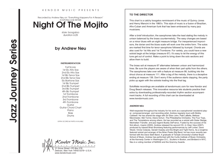 Night Of The Mojito - Conductor Score (Full Score)
