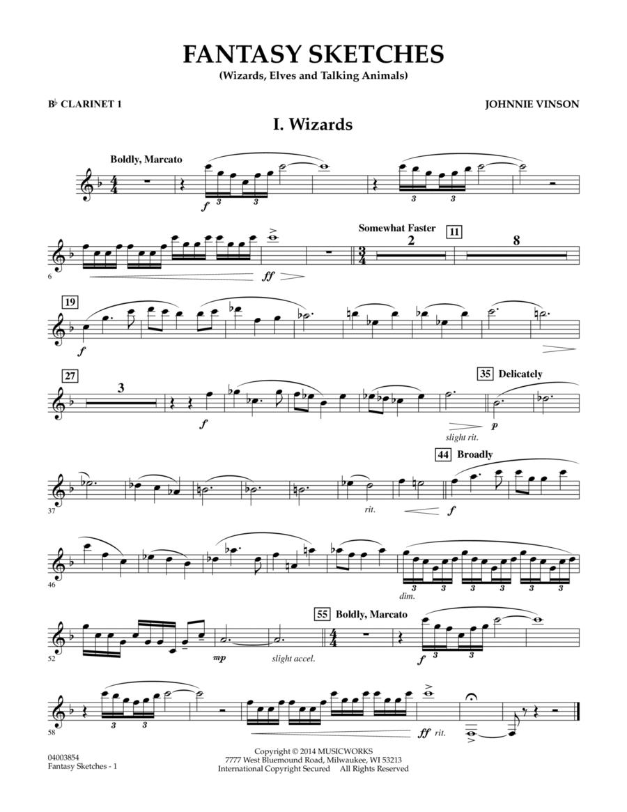 Fantasy Sketches - Bb Clarinet 1
