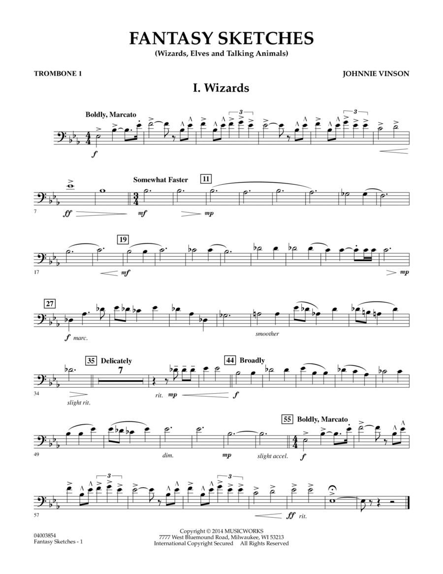 Fantasy Sketches - Trombone 1